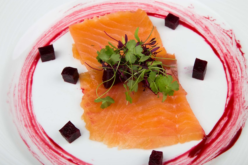 Sloe Gin Cured Salmon