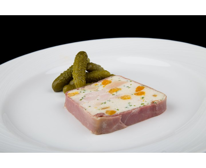 Terrines and Parfaits - Foie gras, guinea fowl and apricot terrine.jpg